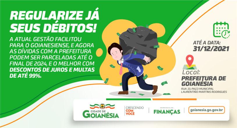 Regularize seus Débitos com o município de Goianésia